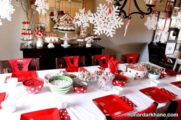 تزیین میز رمانتیک برای تولد