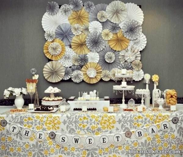 تزیین میز تولد شیک و زیبا