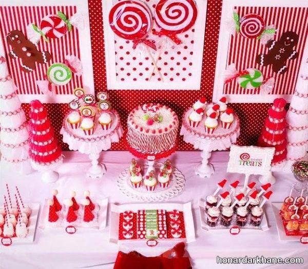 تزیینات میز تولد با تم قرمز
