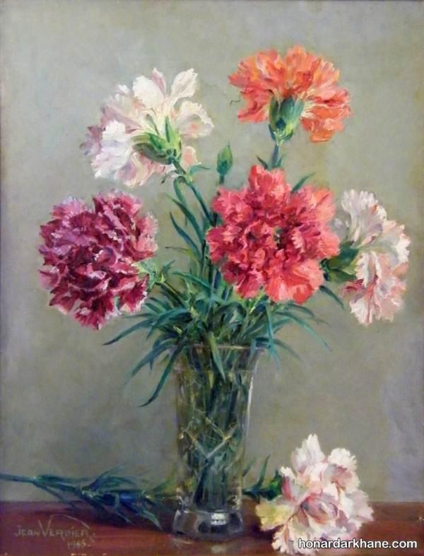 نقاشی گل های زیبا