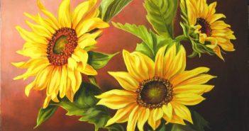 مدل نقاشی گل با رنگ روغن