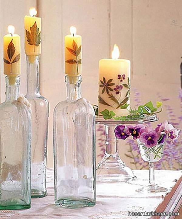 تزیین شمع استوانه ایی ساده