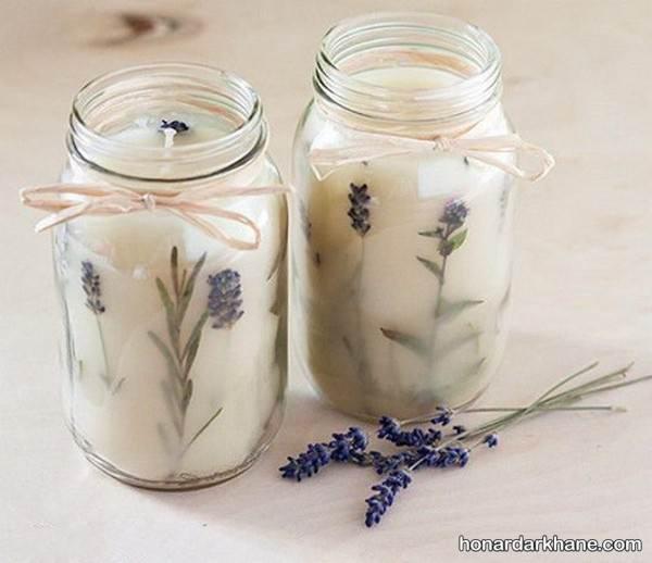 تزیین زیبای شمع با گل