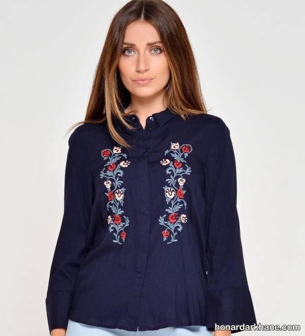 گلدوزی پیراهن زنانه