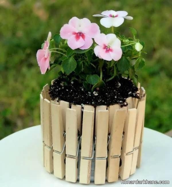 ساخت گلدان با چوب در منزل