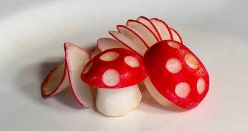 تزیین تربچه به شکل قارچ