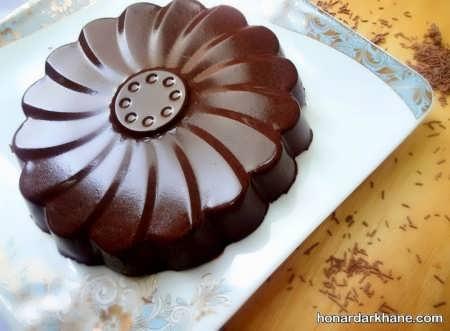 دسر پاناکوتا با شکلات و شیر