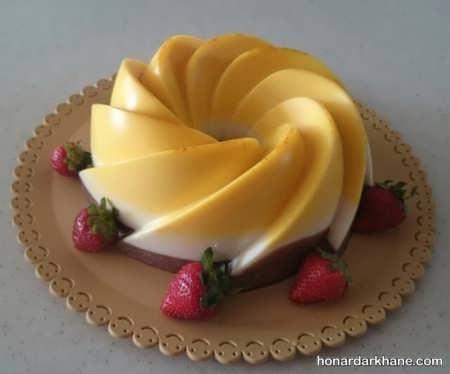 تزیین دسر با میوه