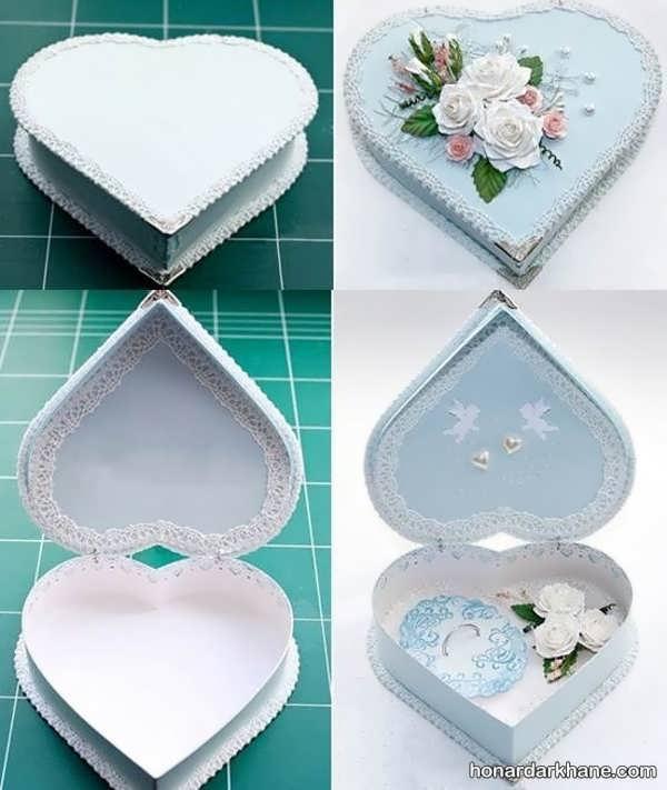 ساختن جعبه کادو قلبی