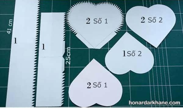الگو جعبه کادو قلبی شکل