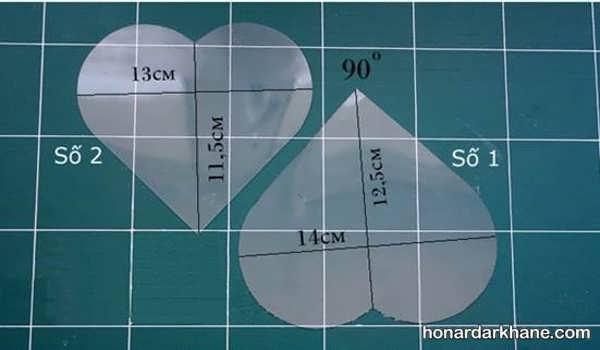 ساخت جعبه کادو قلبی با الگو