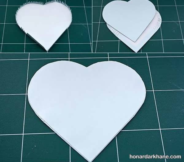 مراحل ساخت جعبه کادو قلب