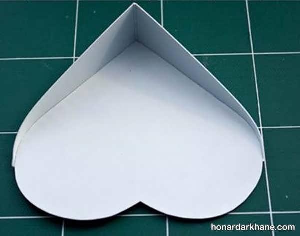 ساخت جعبه کادو به شکل قلب
