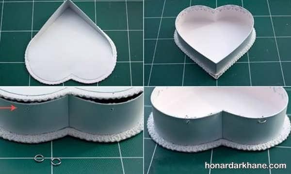 ساختن جعبه کادویی قلبی