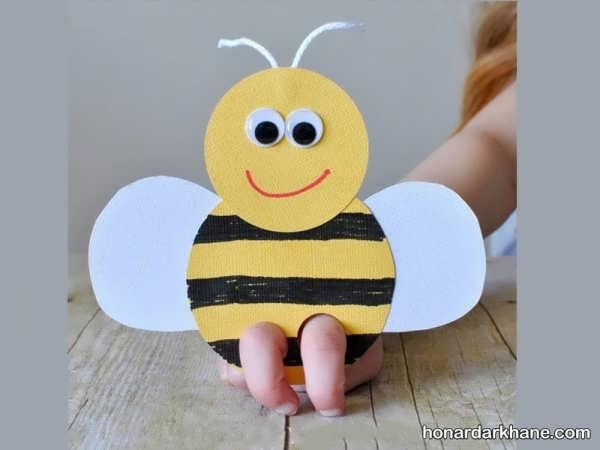 کاردستی زنبور با کاغذ