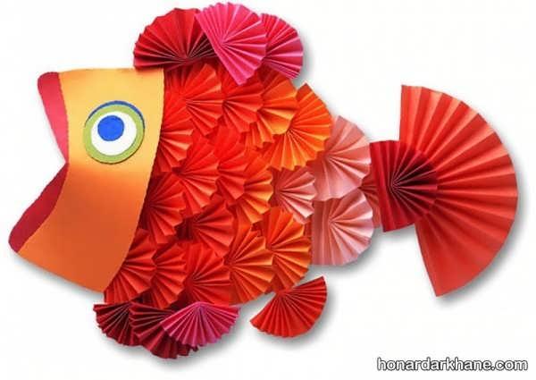 کاردستی ماهی با کاغذ ساده