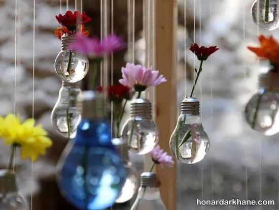گلدان تزیینی با لامپ سوخته
