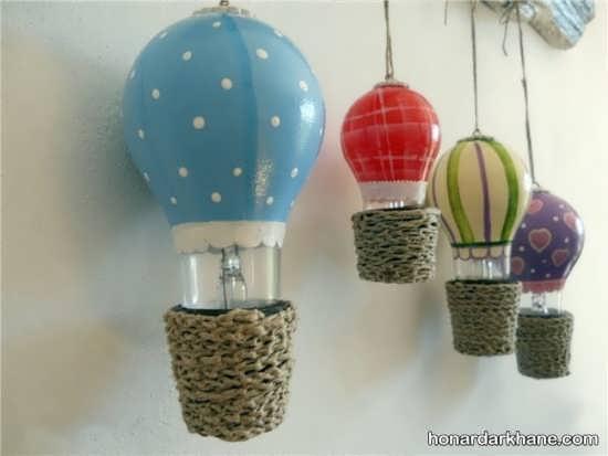 خلاقیت با لامپ سوخته