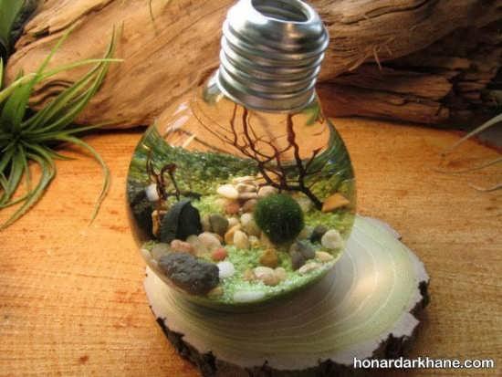 کاردستی های جالب با لامپ سوخته
