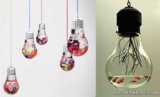 ساخت کاردستی زیبا با لامپ