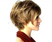 مدل موی کوتاه زنانه جدید برای صورت های کشیده و گرد