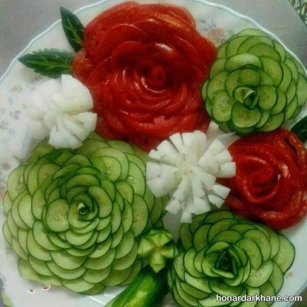 تزیین گوجه خیار و پیار