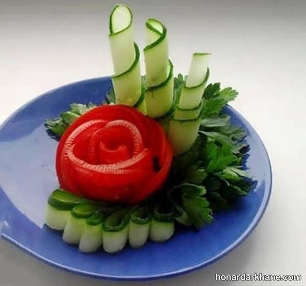 تزیین خیار و گوجه جدید