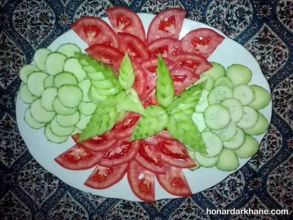 تزیین جدید خیار و گوجه