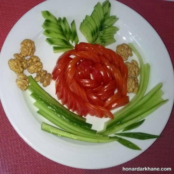 تزیینات خیار و گوجه