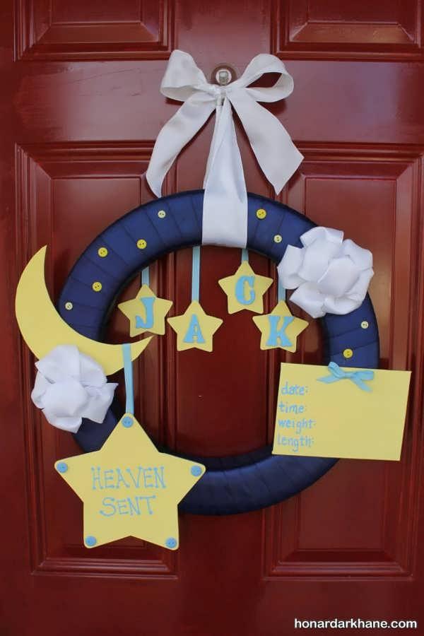 تزیین درب اتاق برای نوزاد