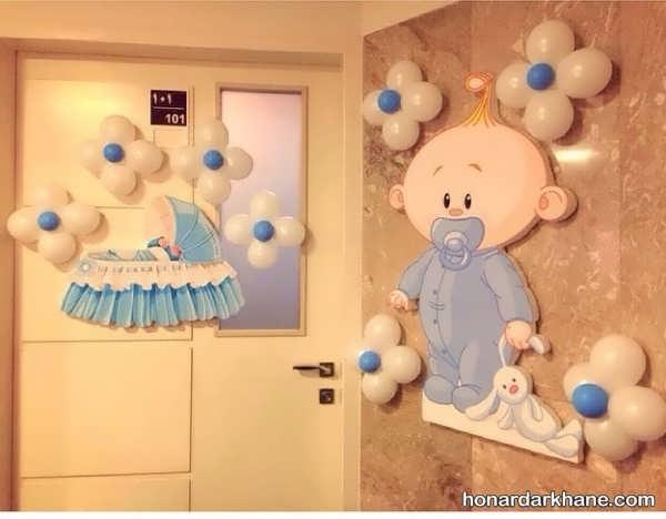 تزیین درب اتاق برای نوزادان