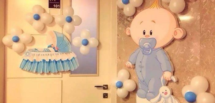 تزیین درب اتاق نوزاد