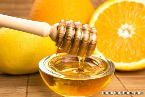 ماسک صورت عسل و پرتقال