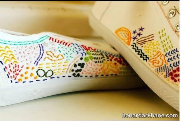 ایده های جالب برای تزیین کفش