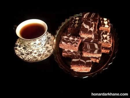 طرز تهیه میکادو با آرد نخودچی