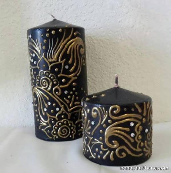 تزیین شمع برای محرم