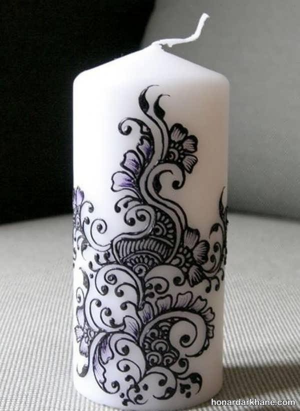 تزیین شمع ساده