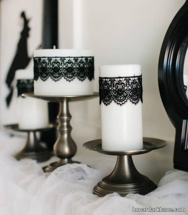 تزیین شمع جدید