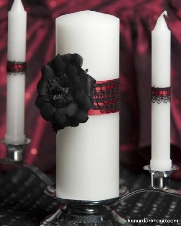 تزیین شمع برای مجلس ختم