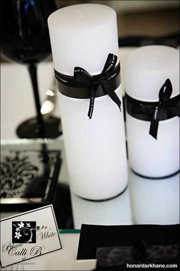 تزیین شمع با روبان مشکی