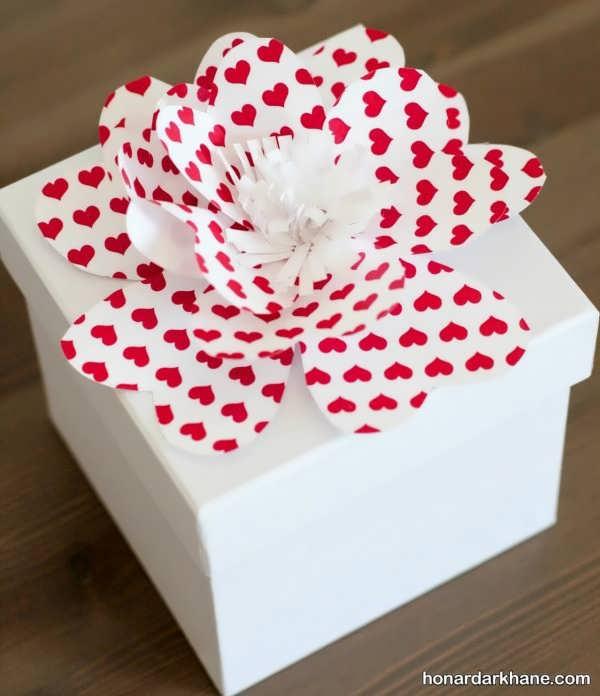 تزیین زیبای جعبه کادو