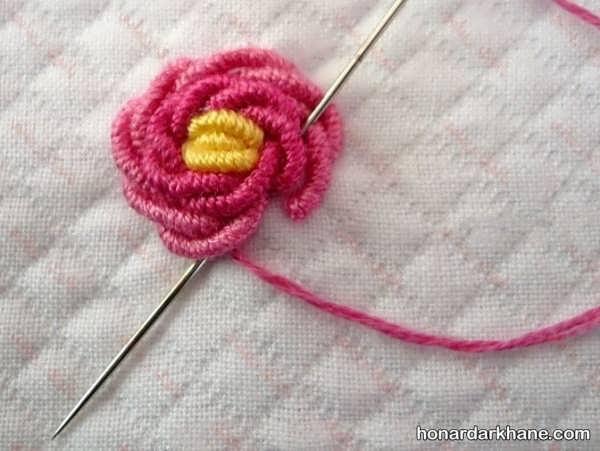 آموزش دوخت گل رز زیبا