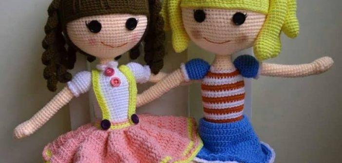 عروسک بافتنی سیندرلا و عروسک های دخترانه بافتنی
