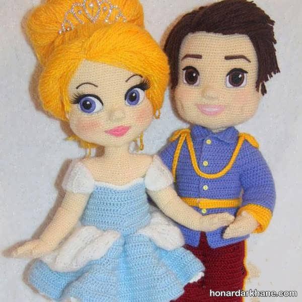 مدل عروسک بافتنی سیندرلا