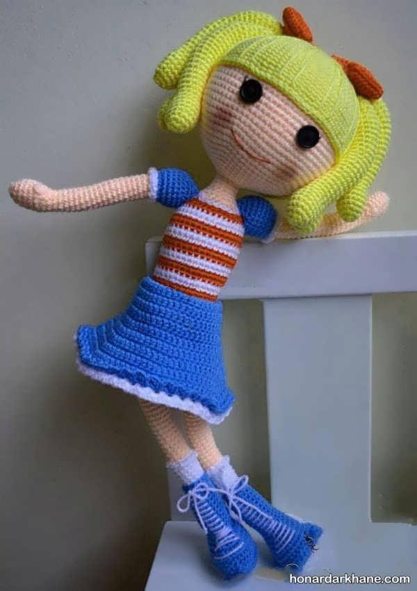 عروسک بافتنی دخترانه جدید