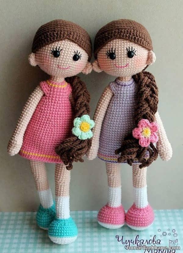 موی عروسک بافتنی عروسک بافتنی سیندرلا و عروسک های دخترانه بافتنی