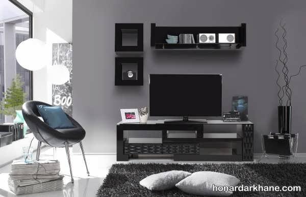 دکوری ساده برای میز تلویزیون