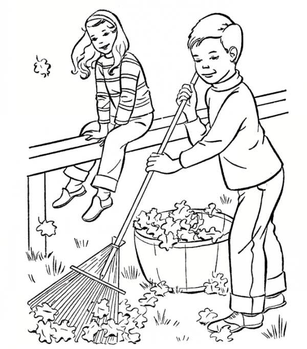 نقاشی پاییز برای کودکان