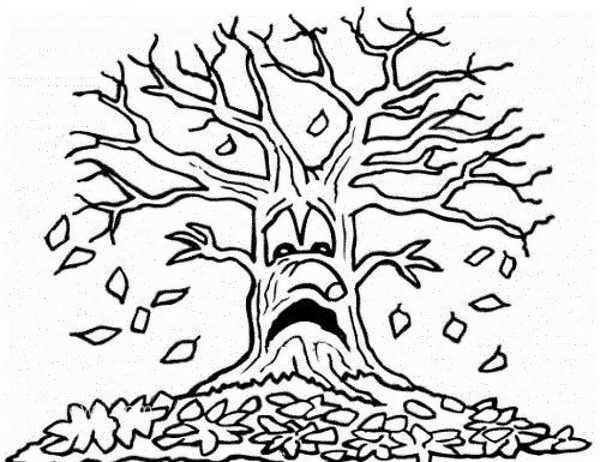 رنگپ آمیزی درخت پاییزی برای کودکان