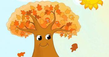 مدل نقاشی پاییز کودکانه و طرح رنگ آمیزی فصل پاییز